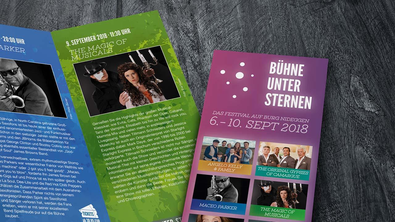Bühne unter Sternen Programmheft - Werbeagentur aus Aachen