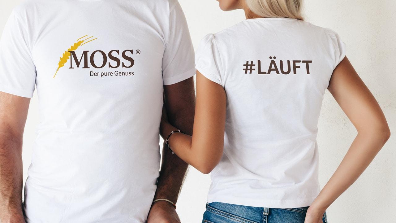 Moss Pure Genuss Shirt von der Werbeagentur aus Aachen