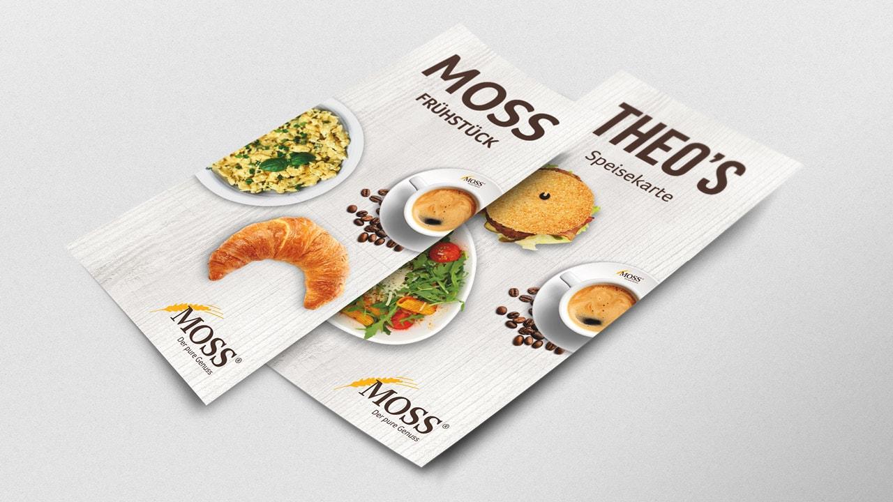 Moss Speisekarte von der Werbeagentur aus Aachen