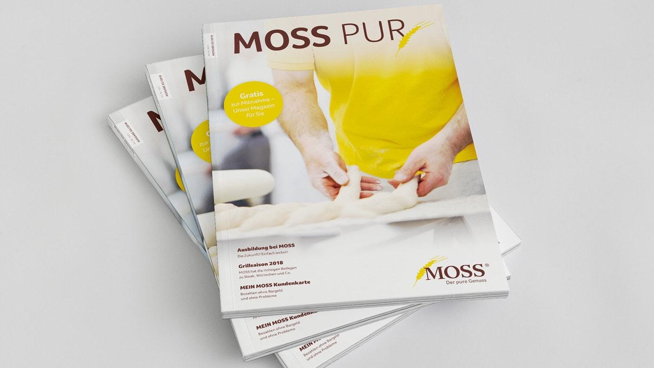 Moss Pur Zeitschrift von der Werbeagentur aus Aachen