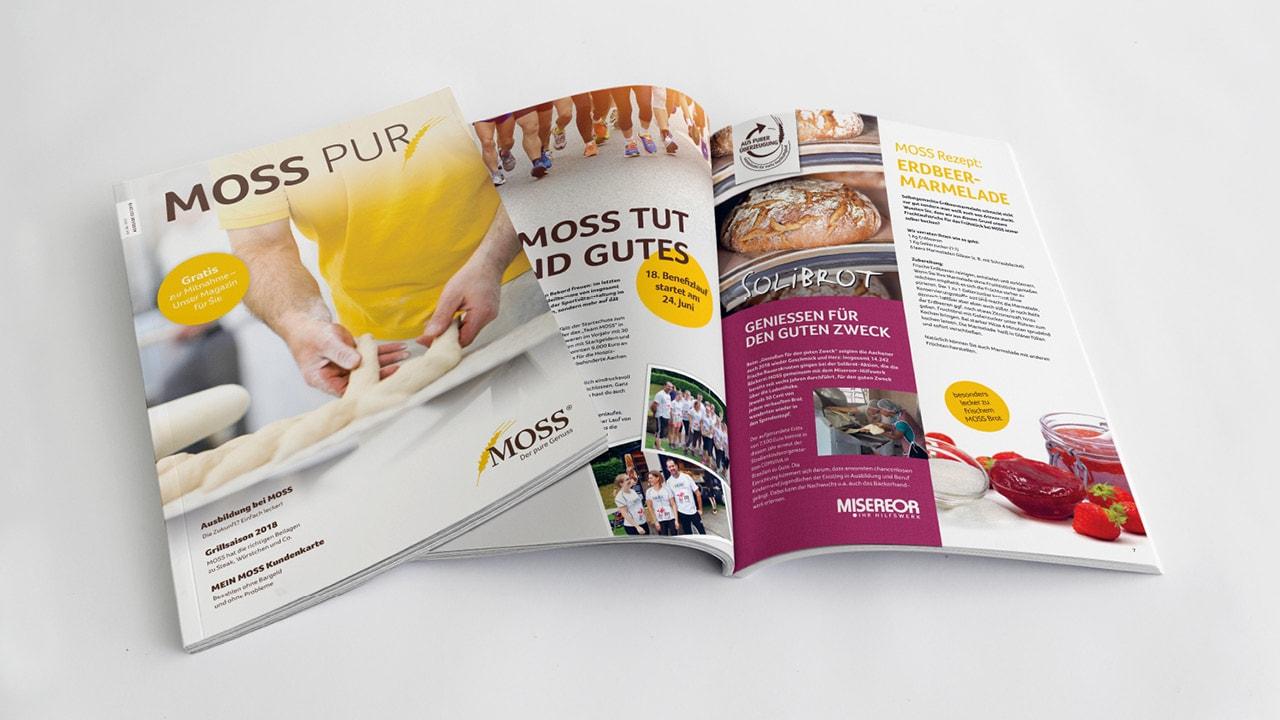 Moss Zeitschrift von der Werbeagentur aus Aachen