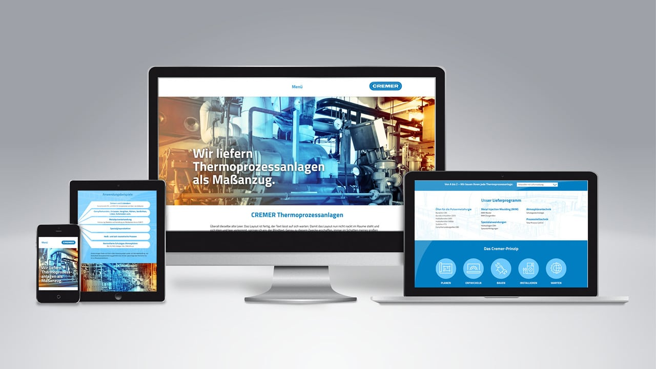 Cremer Website, POWER+RADACH werbeagentur aus Aachen