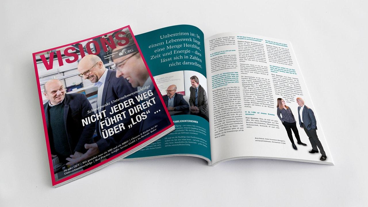 Lesestoff für Macher: S-UBG gibt Magazin VISIONS heraus