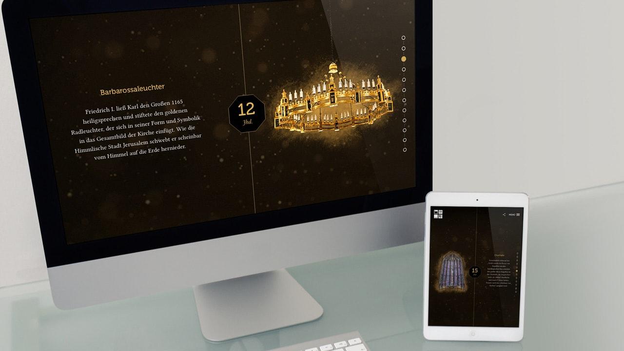 Die neue Website des Aachener Doms: Kulturerbe für die Welt. Kirche für Aachen.