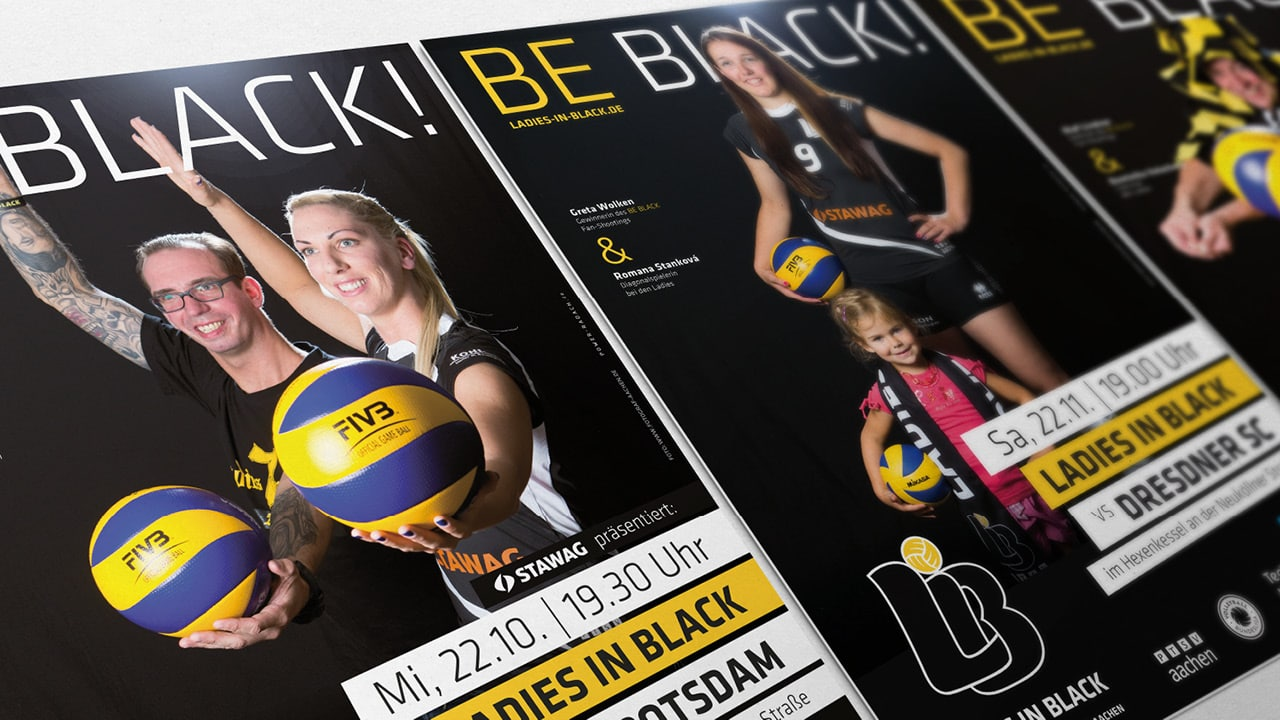 BE BLACK! Die Kampagne der Ladies in Black zur neuen Spielzeit