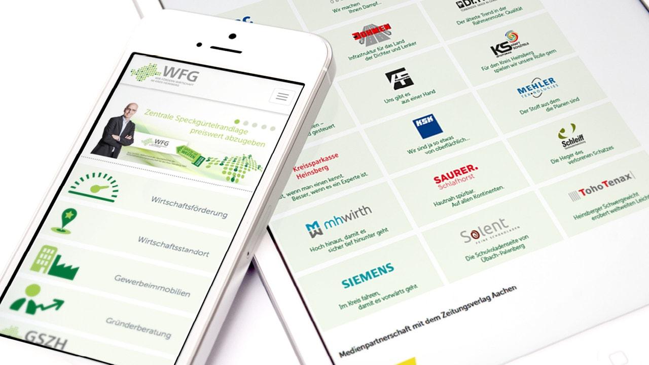 Wir fördern Wirtschaft im Kreis Heinsberg – Neues Design für die WFG